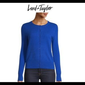 Lord & Taylor 100% cashmere cardigan size small